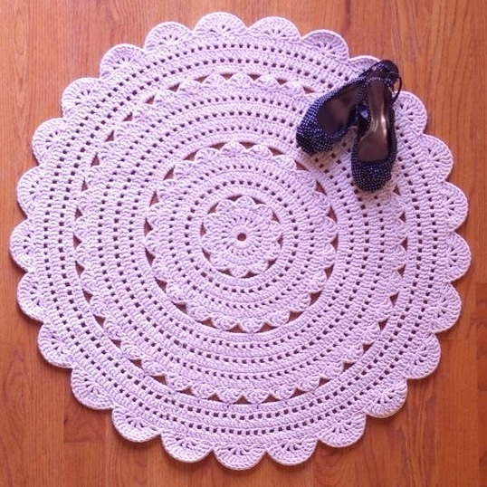 Who new the crocheted rugs we were making in the 60's would be back in style.