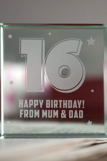 Personalised Glass Token 16th Birthday Stars 220x330 Sweet 16th birthday Gift Ideas