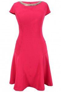 Heine sukienka różowa z kolią