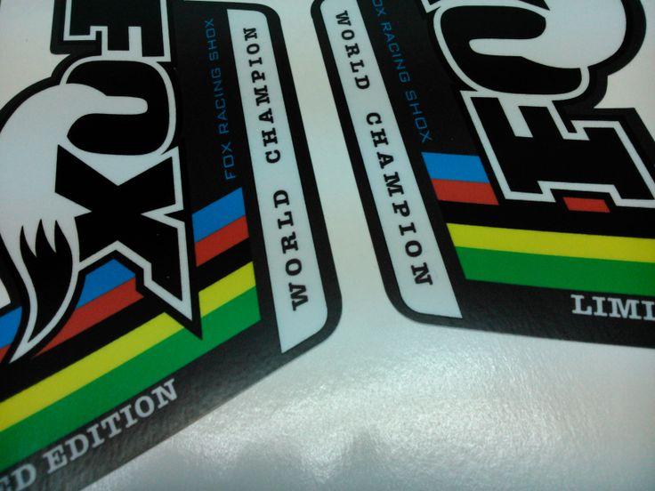 Pegatinas para suspensiones de bicicletas Fox wc Limited Edition  http://euforic-pegatinas-bicicletas.blogspot.com.es/2008/12/fox.html