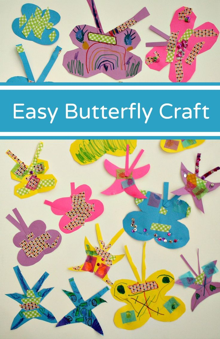 Easy Butterfly Craft for Preschoolers....set up this simple invitation to create and see what colorful butterfly creations kids make