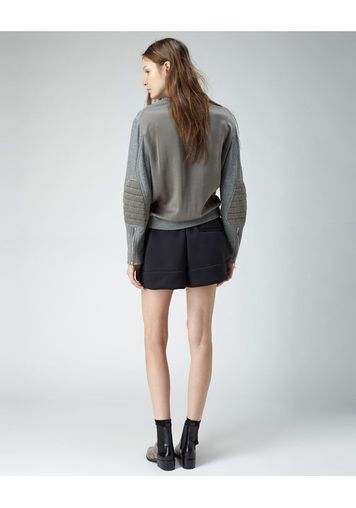3.1 Phillip Lim | Biker Sleeve Sweatshirt | La Garçonne