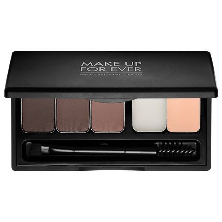 MAKE UP FOR EVER - Pro Sculpting Brow Palette  in Harmony 2 - brown to black  #sephora