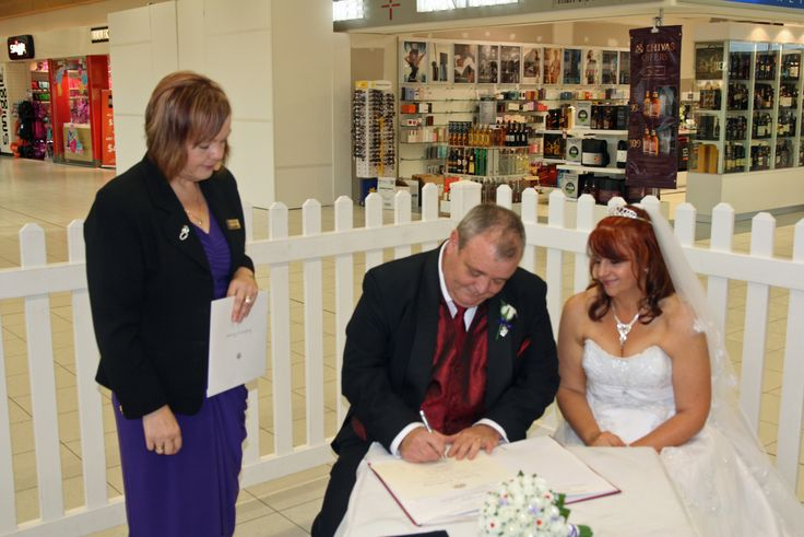 First ever wedding at the Adelaide Airport.