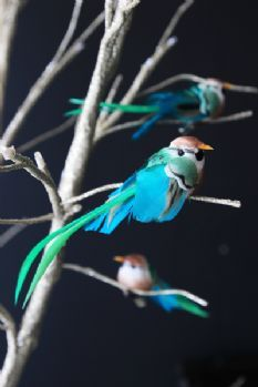 Little Bird Clip-on Decoration - Blue & Green Bird