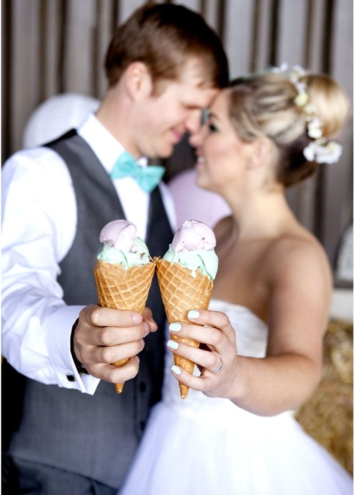 Mesa de Postres para boda en verano: Barra de helados