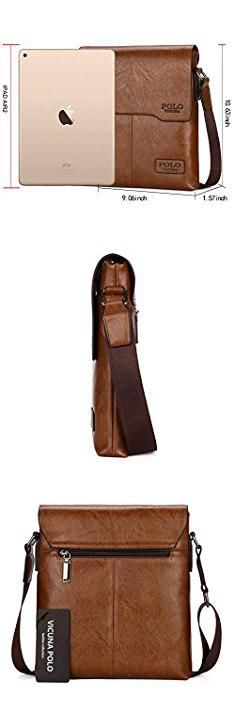 Male Bags. VICUNA POLO Shoulder Bag Business Man Bag Messenger Bag for Men Crossbody Bag(khaki).  #male #bags #malebags