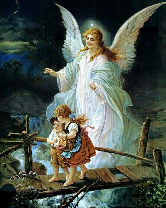 Guardian Angel - (Te pido que cuides siempre de mis hijos) - Angel de la guarda, mi dulce compania, no me desampares ni de noche ni de dia que me perderia.Amen.
