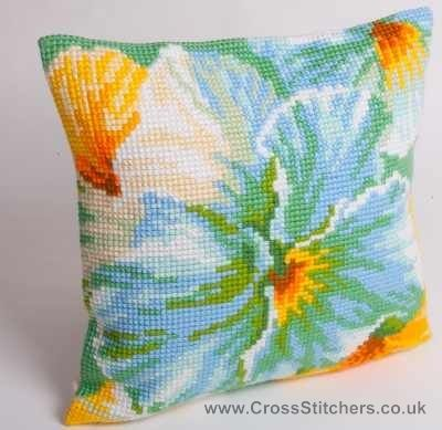 Printemps -  Spring Cushion Front Cross Stitch Kit by Collection D'Art