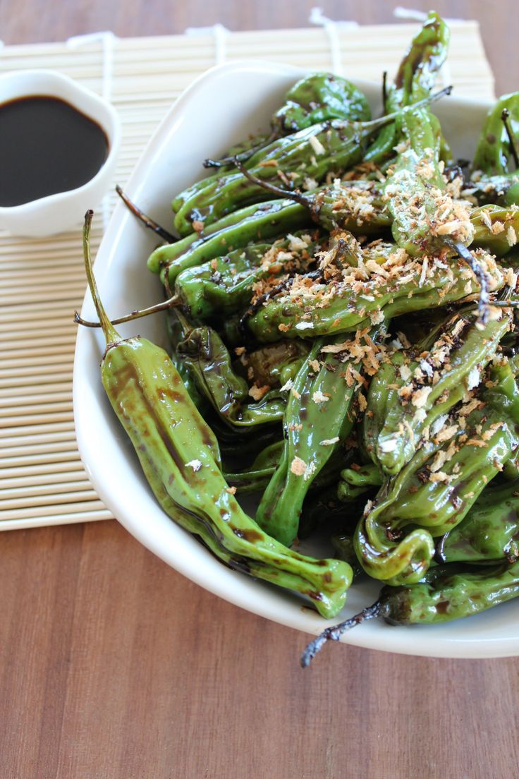 Soy Ginger Shishito Peppers