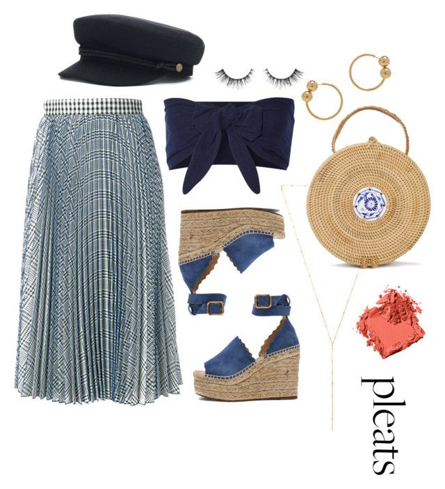 Pleats be good to me by angelamarkovich on Polyvore featuring polyvore, fashion, style, Solid & Striped, MSGM, Chloé, J.W. Anderson, Joolz by Martha Calvo, Bobbi Brown Cosmetics and clothing