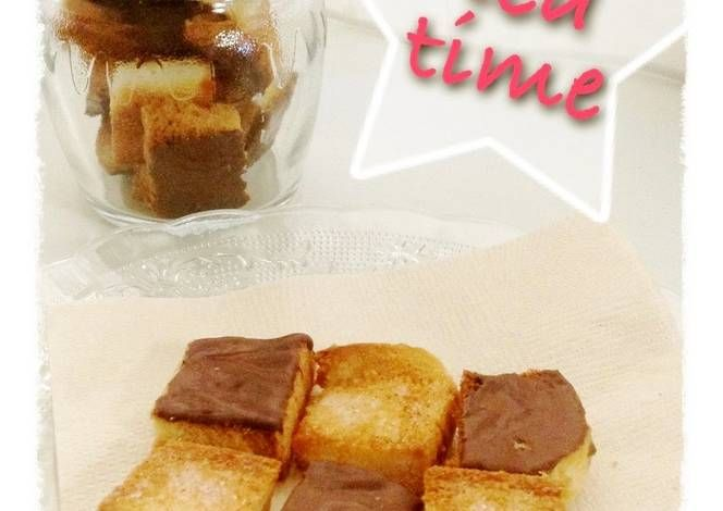 Easy Baked Sandwich Bread Rusk in the Toaster Oven Recipe -  Very Delicious. You must try this recipe!
