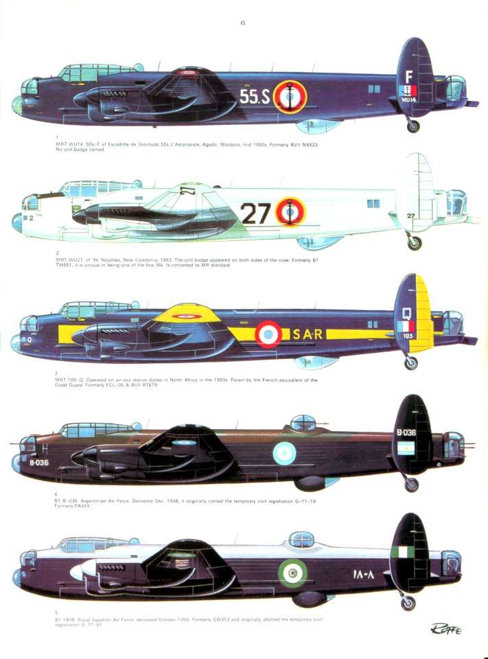 Avro Lancaster in all her variations. Triffic