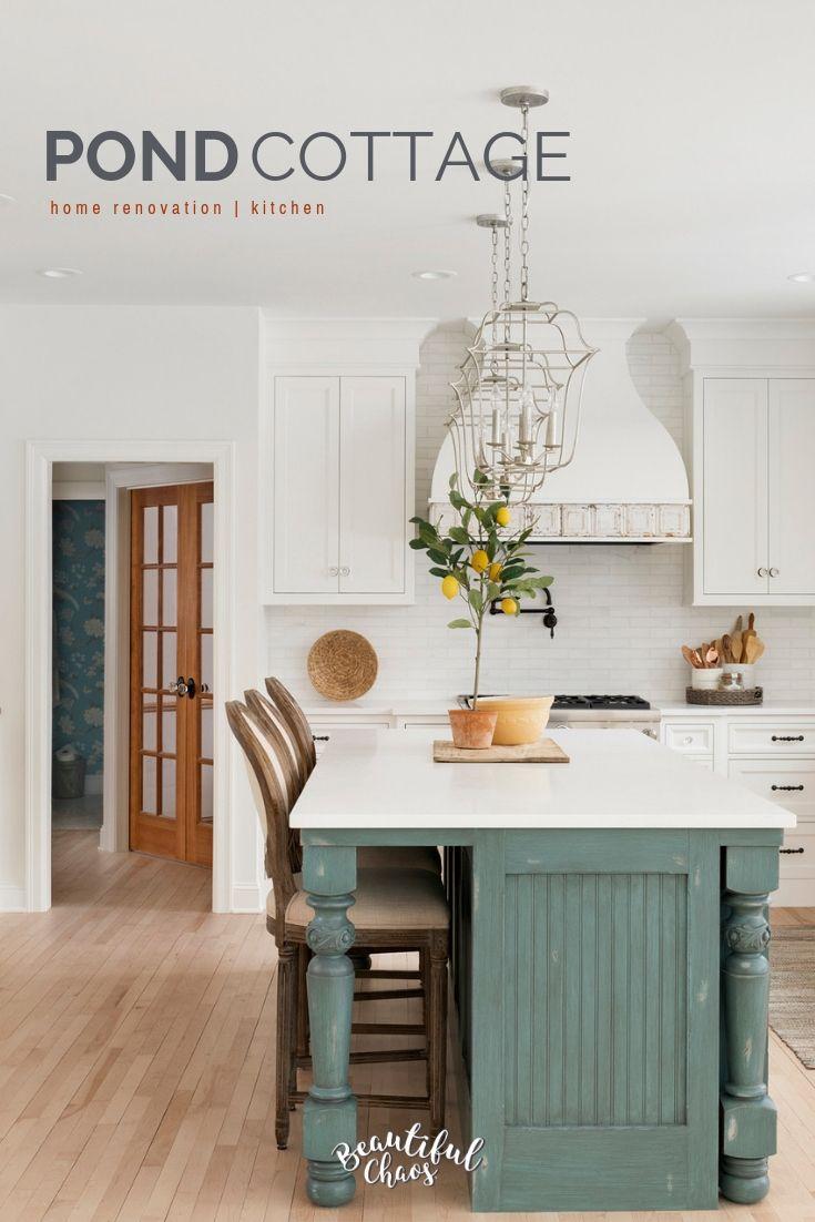 Cottage Style Home In 2019 Pond Cottage Cottage Kitchen