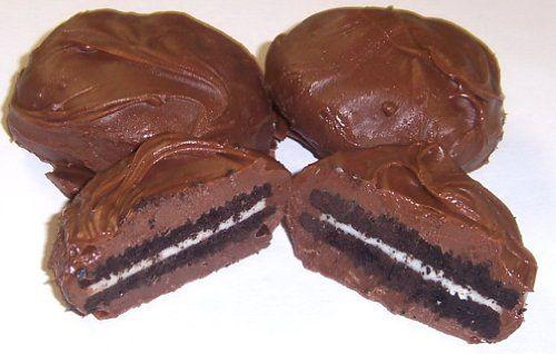 Scott's Cakes Milk Chocolate Covered Oreos in a Small Celebrate Tin - http://mygourmetgifts.com/scotts-cakes-milk-chocolate-covered-oreos-in-a-small-celebrate-tin/