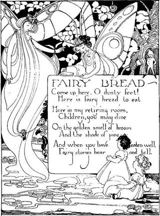 vintage fairy art, Fairy Bread, M Sheldon