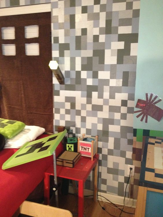 another minecraft bedroom: