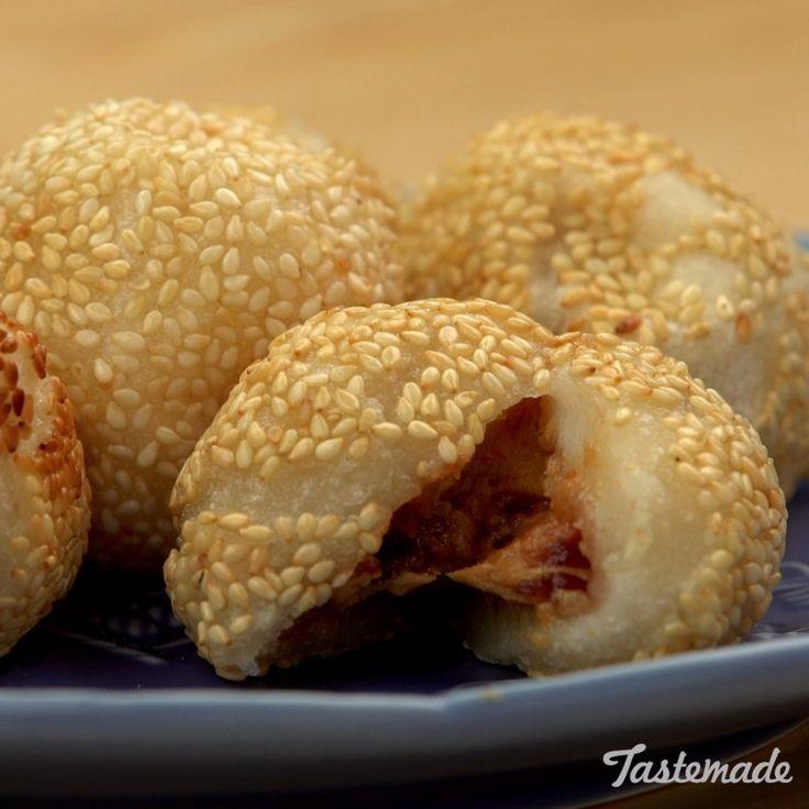Peanut Butter Jelly Buchi Balls Video | Recipe | Buchi ...