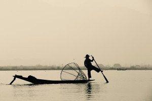 Intha Rower on Inle Lake, Myanmar