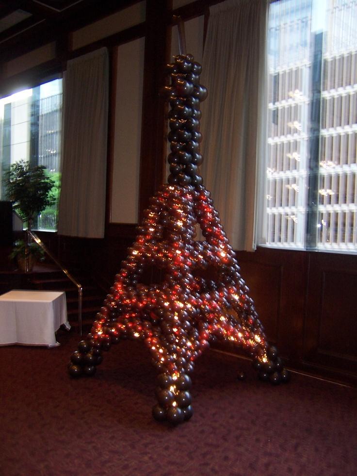 Balloon Eiffel Tower Balloon Creations Pinterest