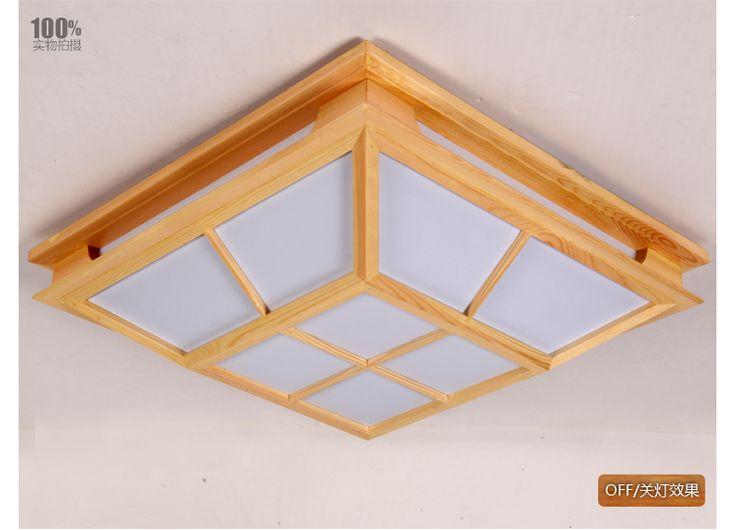 Твердая древесина татами японском стиле спальня потолочные светильники plafonnier 5730 led модерн краткое потолочное освещение luminarias де teto купить на AliExpress