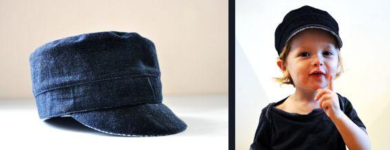 Michel-Mütze aus alter Jeans und Tanten-Hemd