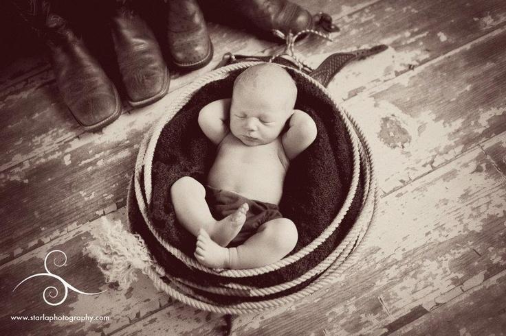 newborn cowboy, Vintage Baby photo.  Newborn western photo