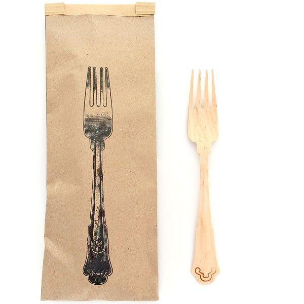 10 Vintage Wooden Forks