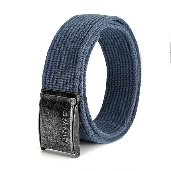 140CM Men Women Canvas Alloy Smooth Buckle Belt Military Waistband Casual Outdoor Sport Pants Strip