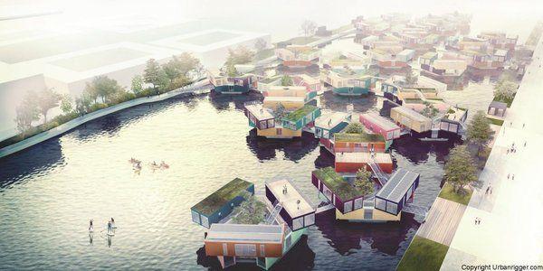 В Копенгагене студентов селят в плавучие общежития из контейнеров за 600 долларов в месяц Дания, Копенгаген, общежития для студентов, плавучие дома, livejournal, длиннопост