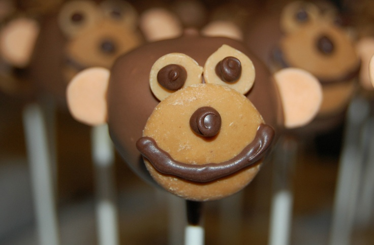 peanut butter monkey pop: Desserts, Pops Party Pops, Butter Monkey, Www Partypopsct Com Delicious, Food Cake, Monkey Pops, Adorable Cake, Cake Pops Party, Animal Pops
