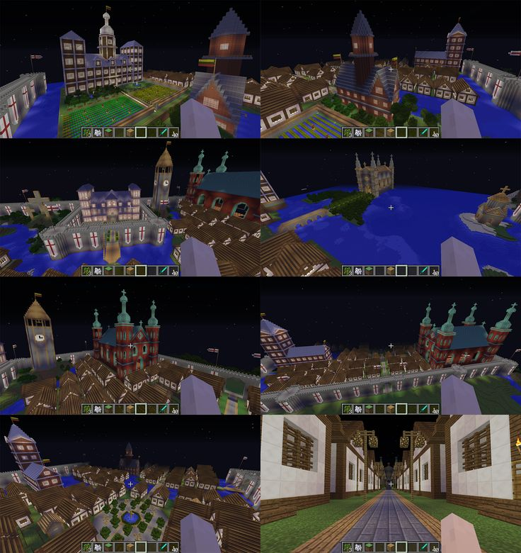 some shots of my minecraft map based on a random european town which took more or less two years to build