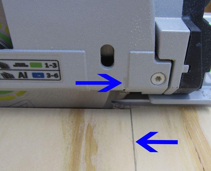 Festool TS55 genaue Ausschnitte- Markierung vorne