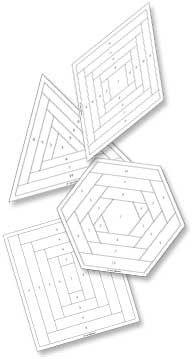 Log Cabin Quilt Block Foundations - free pdf patterns