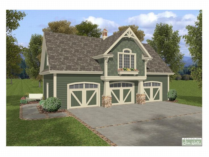 Garage barn garage plans workshop barn apartment for Single car garage with apartment