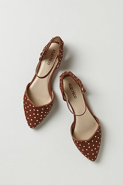 Pin Dot Ankle Strap Heels