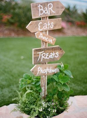 Panneaux de direction pour mariage
