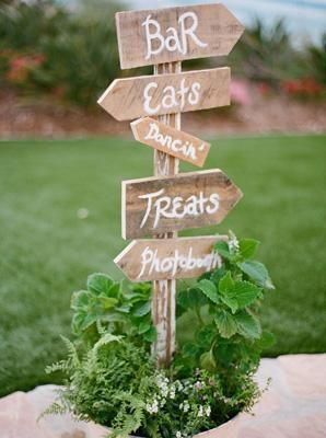 signs for outside wedding