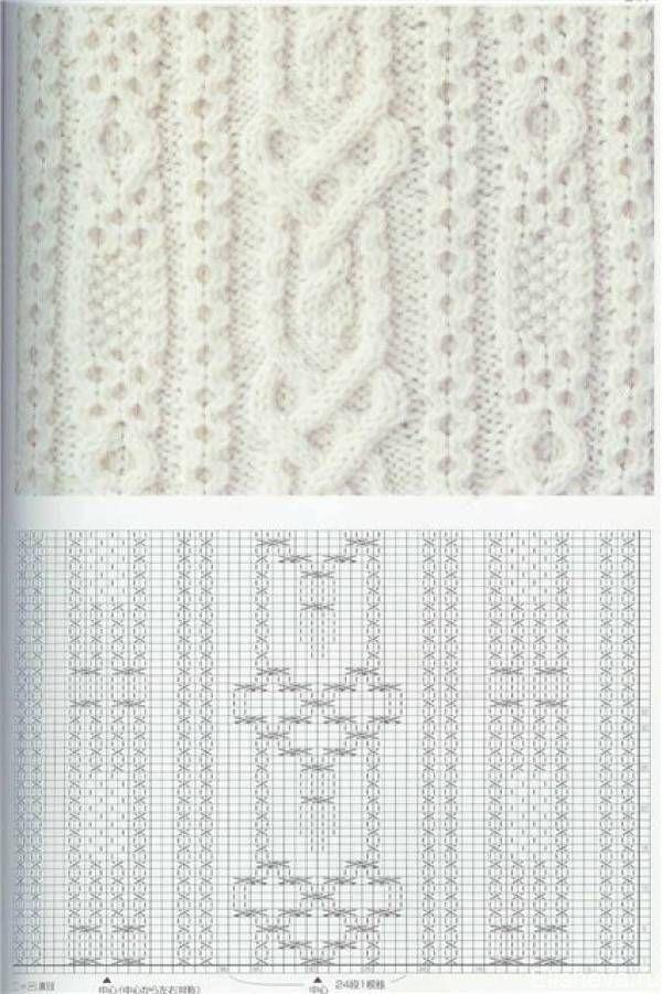 Красивые узоры вязания спицами со схемами Т…