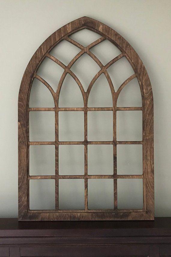 Arch Window Farmhouse Frame Heirloom Faux Window Frame Arched