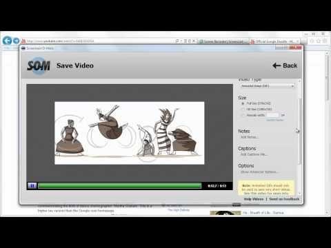 Crear gifs animados con Screencast