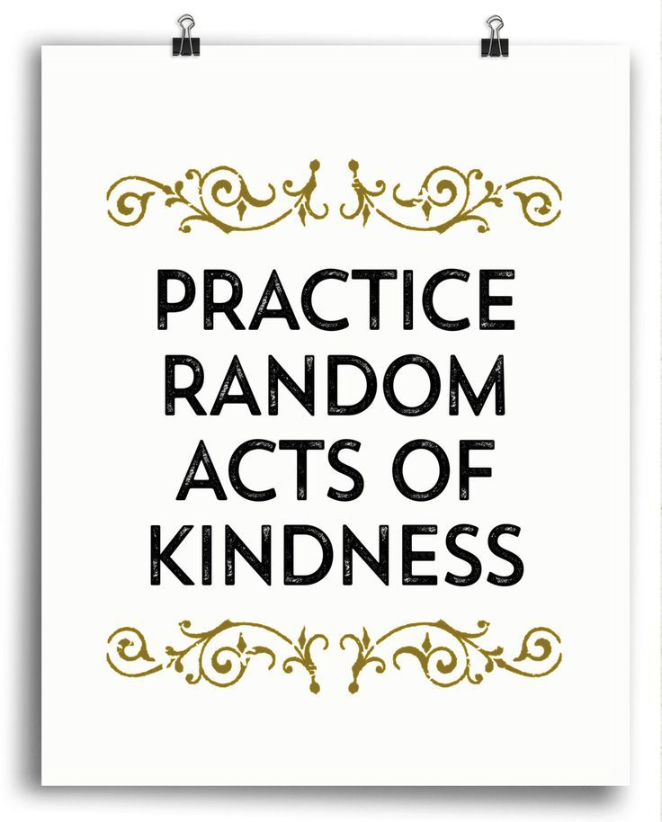 Acts Of Kindness Quotes: Practice Random Acts Of Kindness Inspirational Print