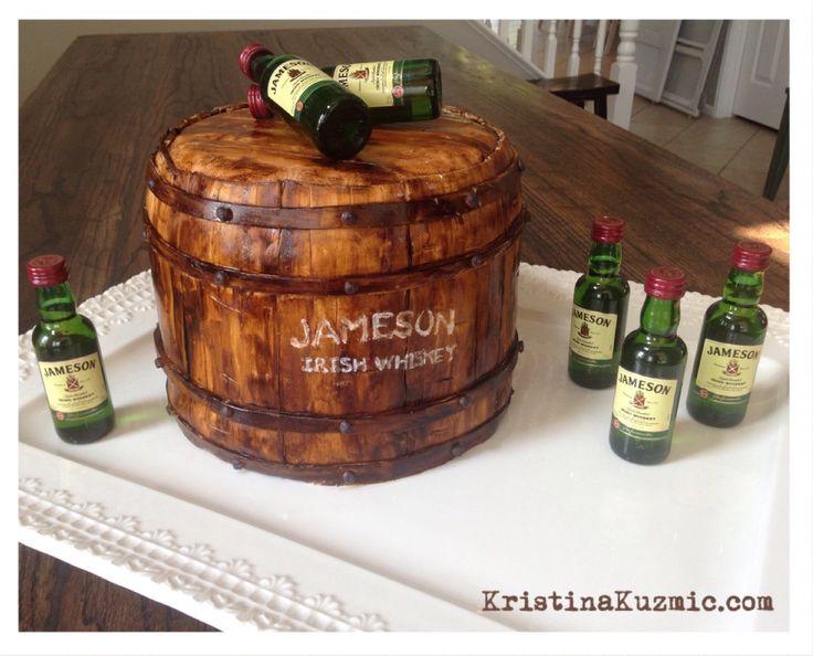 Jameson Whiskey Themed Birthday Cake My Cake Creations