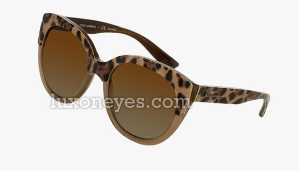 ENCHANTED BEAUTIES - ANIMALIER DG 4259 LEOPARD MUD/BROWN SHADED POLARIZED (2967/T5)
