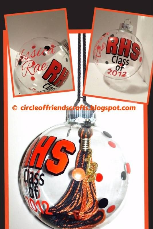 Photo on Christmas / High school Tassel Ornament - very cute idea. Would make a nice graduation add on gift.