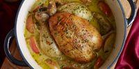 Κοτόπουλο στον φούρνο με μήλα και μηλίτη!