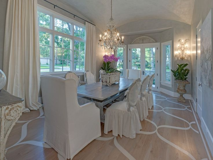 125 best images about interiors white cream on for White formal dining room