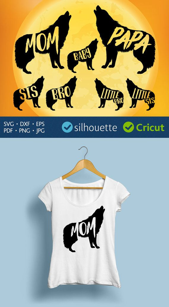 Mama wolf svg file download Wolf clipart Cricut easy cut