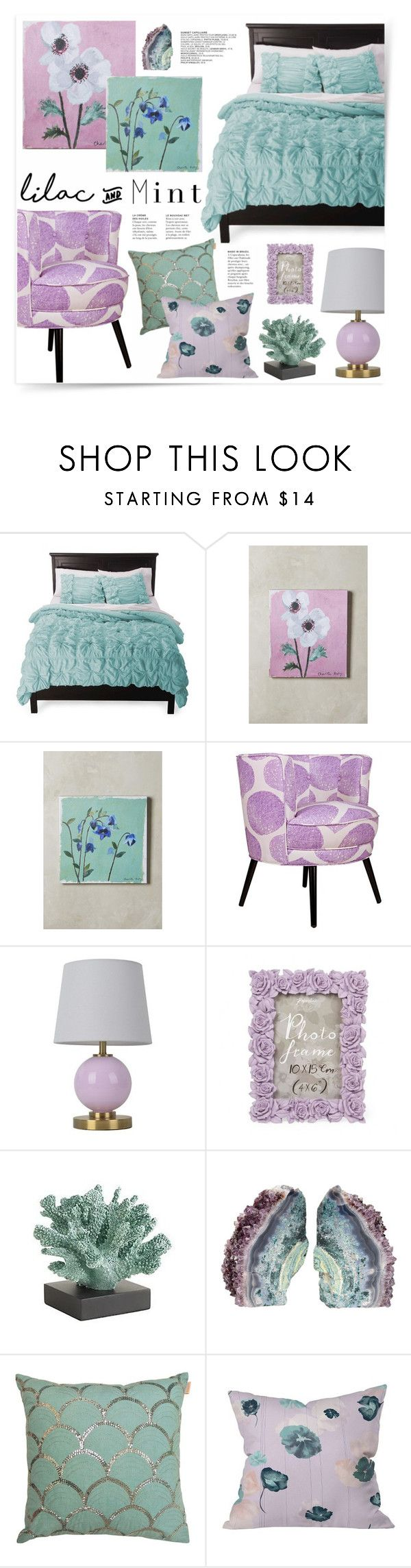"""Lilac & Mint Bedroom"" by katrinaalice ❤ liked on Polyvore featuring interior, interiors, interior design, home, home decor, interior decorating, See by Chloé, Rizzy Home, Charlotte Hardy and angelo:HOME"