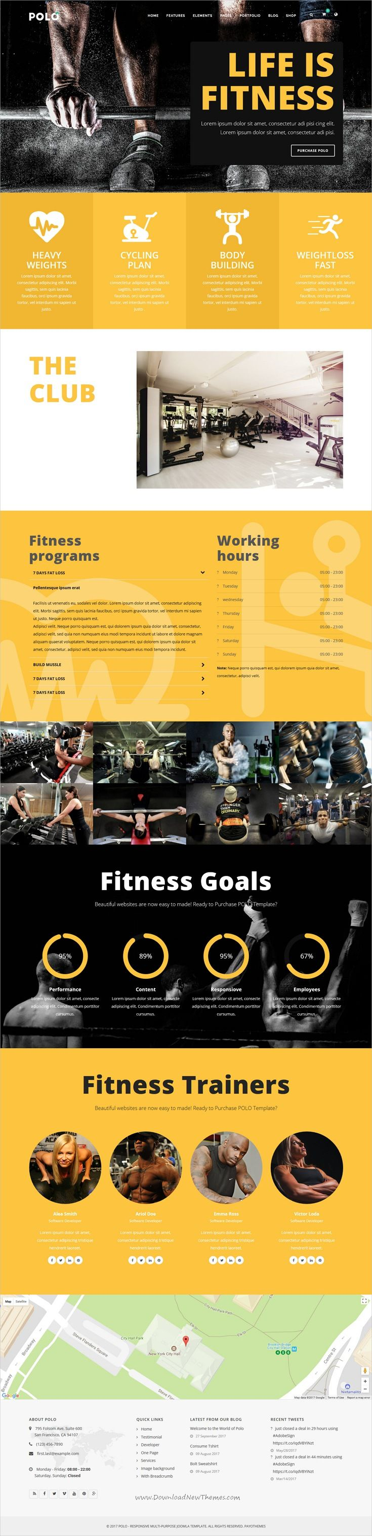 Polo is clean and modern design multipurpose responsive Joomla template for #gym and #fitness club website with 140+ niche homepage layouts download now..
